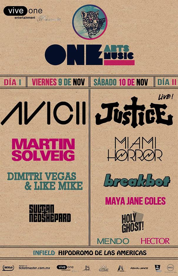 Cartel y mapa oficiales del One Music & Arts Festival 2012