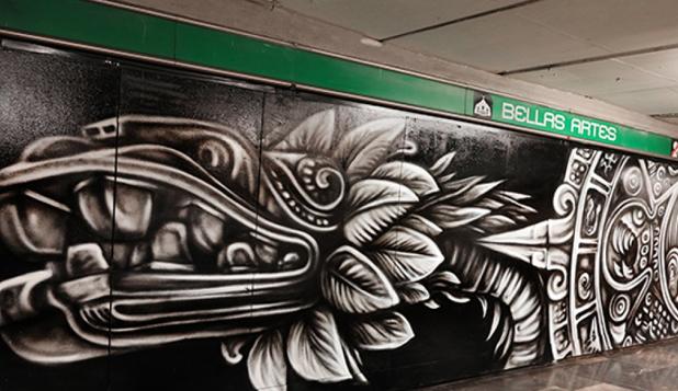 Nuevo mural en el corredor del metro bellas artes factor for Arte colectivo mural