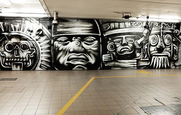 Nuevo mural en el corredor del metro bellas artes factor for Mural metro u de chile